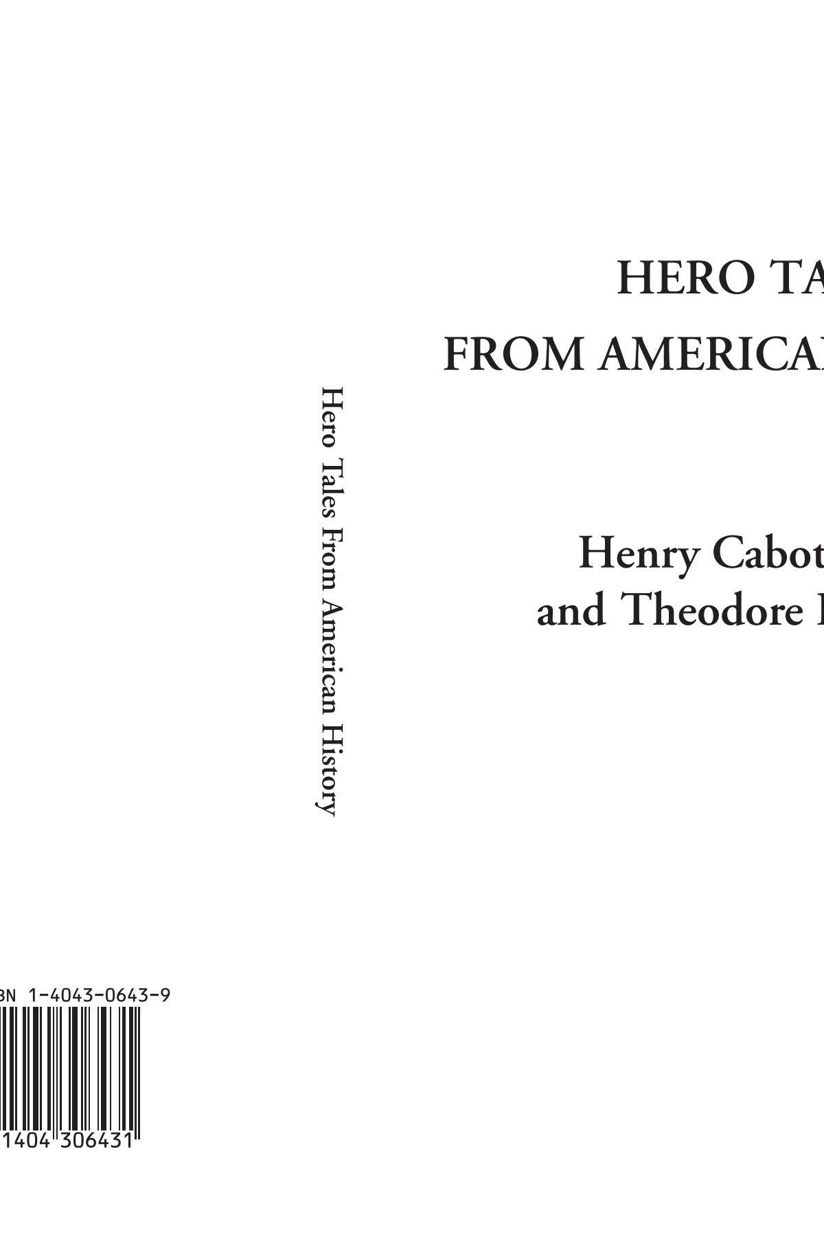 Read Online Hero Tales From American History PDF
