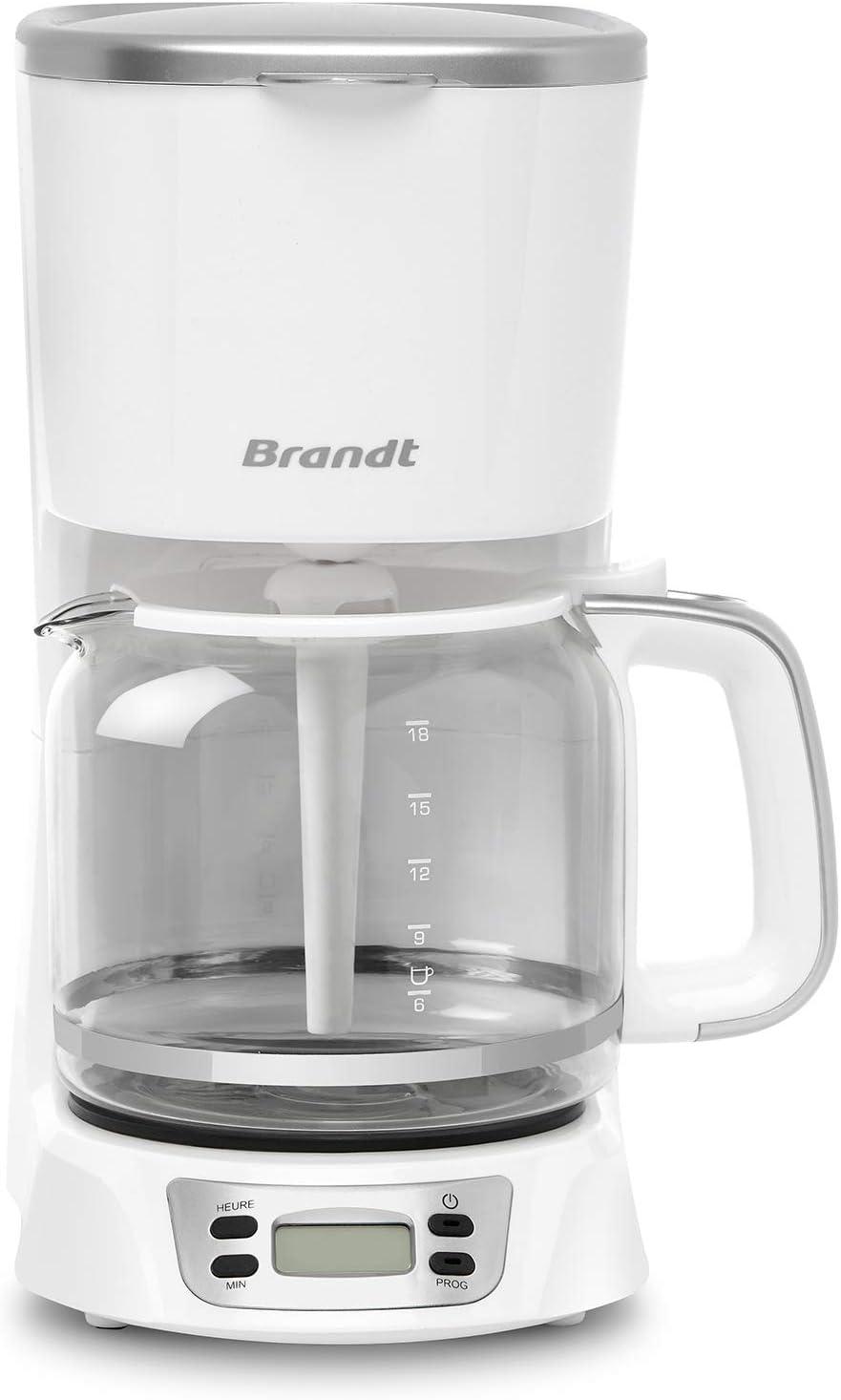 Brandt - Cafetera programable, 1,8 litros, color blanco: Amazon.es ...