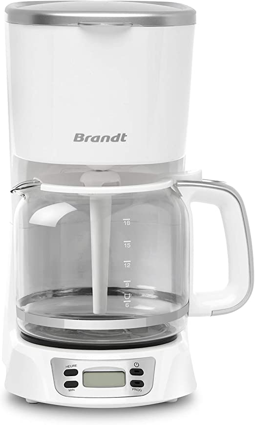 Brandt - Cafetera programable, 1,8 litros, color blanco: Amazon.es ...
