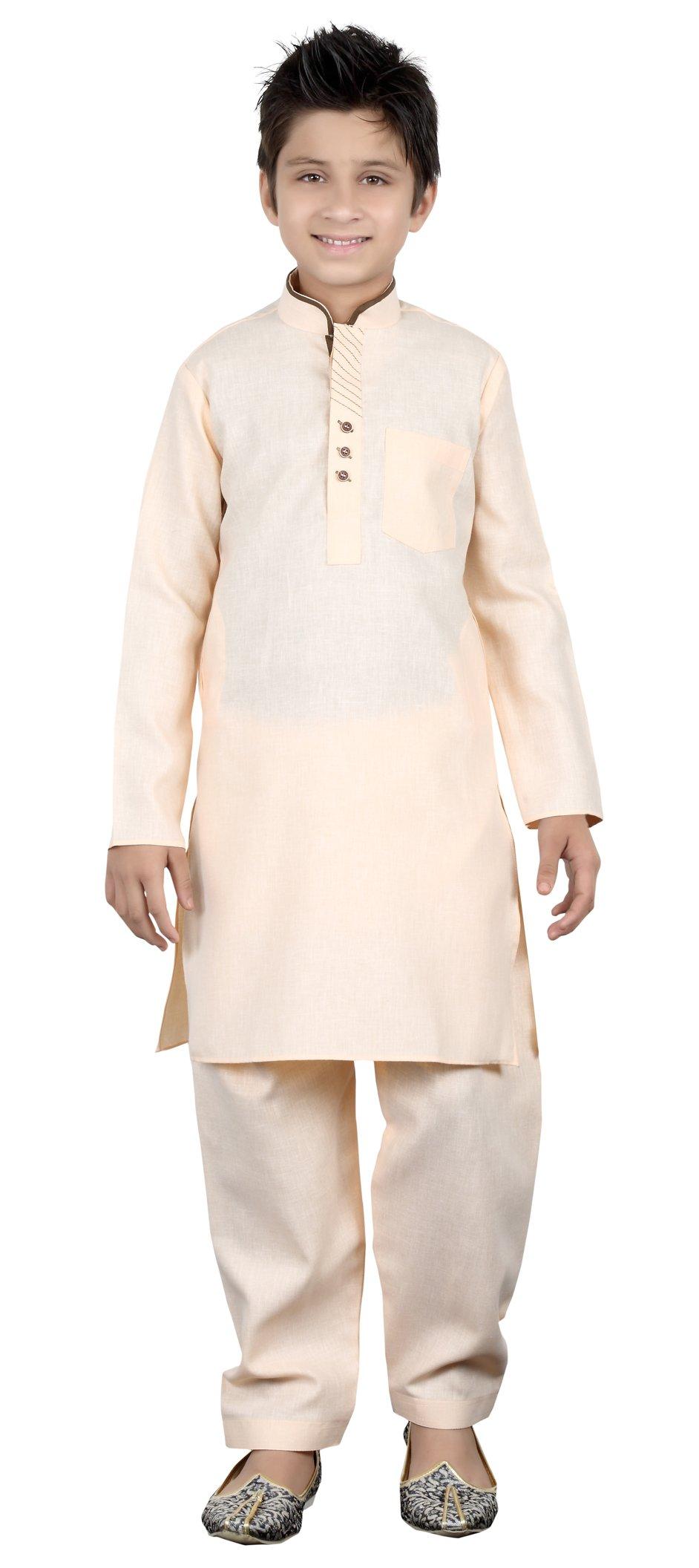 Indian Ethnic Kids Kurta Pajama Set Cotton Party Wear Eid Festival Dress Gift