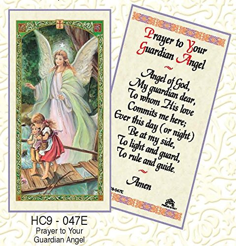 - Guardian Angel Prayer Laminated Prayer Cards - Pack of 25 - HC9-047E
