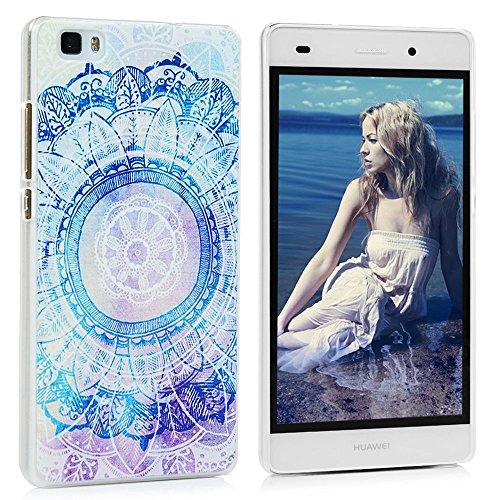 Huawei P8 Lite PC Hartes Case Lanveni® Hardcase Handyschale Schutzhülle Handycover Tasche Etui_Muster:Totem Blume