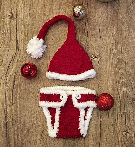 Santa, Newborn Baby Girl/Boy Crochet Knit Costume Photo Photography Prop Hats Outfits for $<!--$9.99-->