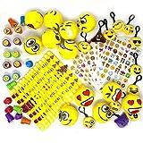 JOYIN 68 Pieces Assorted Kids Emoji Birthday Party Supply Children Emoji Stress Relief Toys
