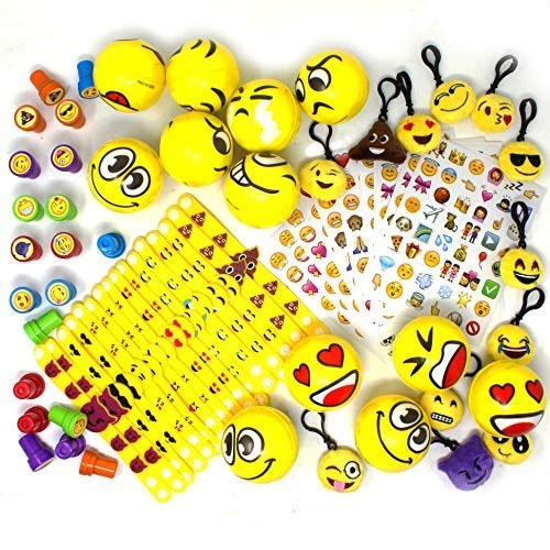 JOYIN 68 Pieces Assorted Kids Emoji Birthday Party Supply Children Emoji Stress Relief Toys