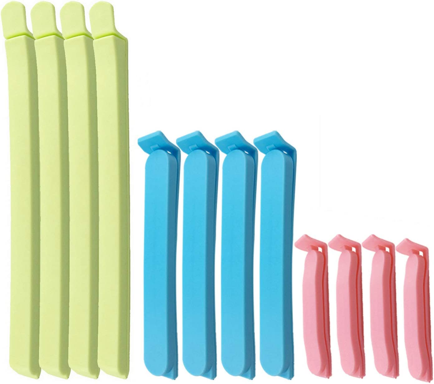 26Pcs Plastic Sealing Clips for Food and Snack Bags by YINGFENG, 3 - 4.5 -7.8inch, Fresh-Keeping Clamp Sealer, Assorted Sizes and Colors
