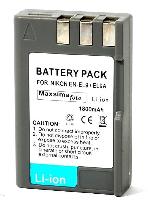 Maxsima - EN-EL9 EN-EL9a COMPATIBLE BATTERY FOR Nikon D40 ...