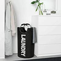 82L Large Laundry Basket Collapsible Fabric Laundry Hamper Tall Foldable Laundry (Black)