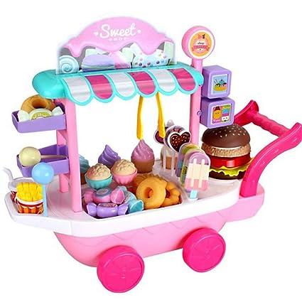 Amazon.com: FLAMINGO_STORE Pretend Play Toy Play Kitchen ...