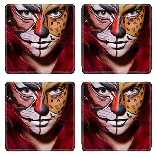 MSD S (Face Painting For Lion Costume)
