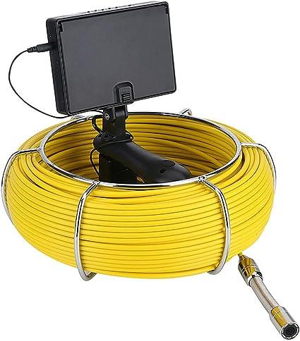 Extaum Rohr Abwasserkamera Handheld F4322 20m Pipeline Inspection Endoskop Kamera 4 3 Zoll Ip68 Wasserdicht Mit 4500mah Power Bank Küche Haushalt