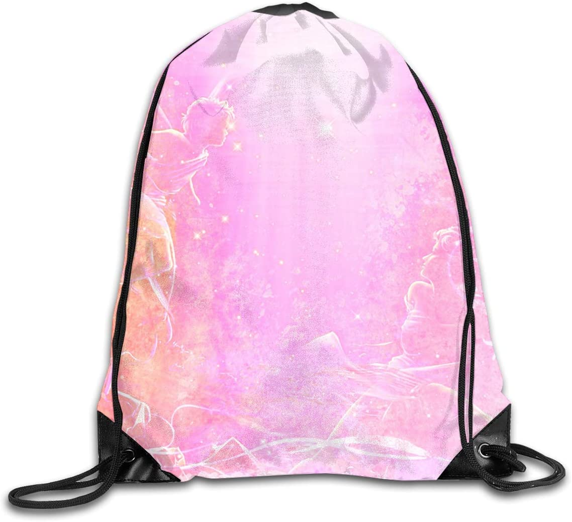 CoolStuff Travel Shoe Bags,Pink Bright Drawstring Backpack Hiking Climbing Gym Bag,Large Big Durable Reusable Polyester Footwear Protection