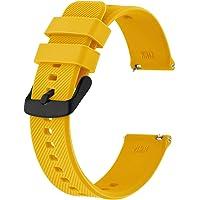 BISONSTRAP Correa de Reloj 18mm 19mm 20mm 21mm 22mm, Correas de Silicona de Liberación Rápida para Hombres y Mujeres