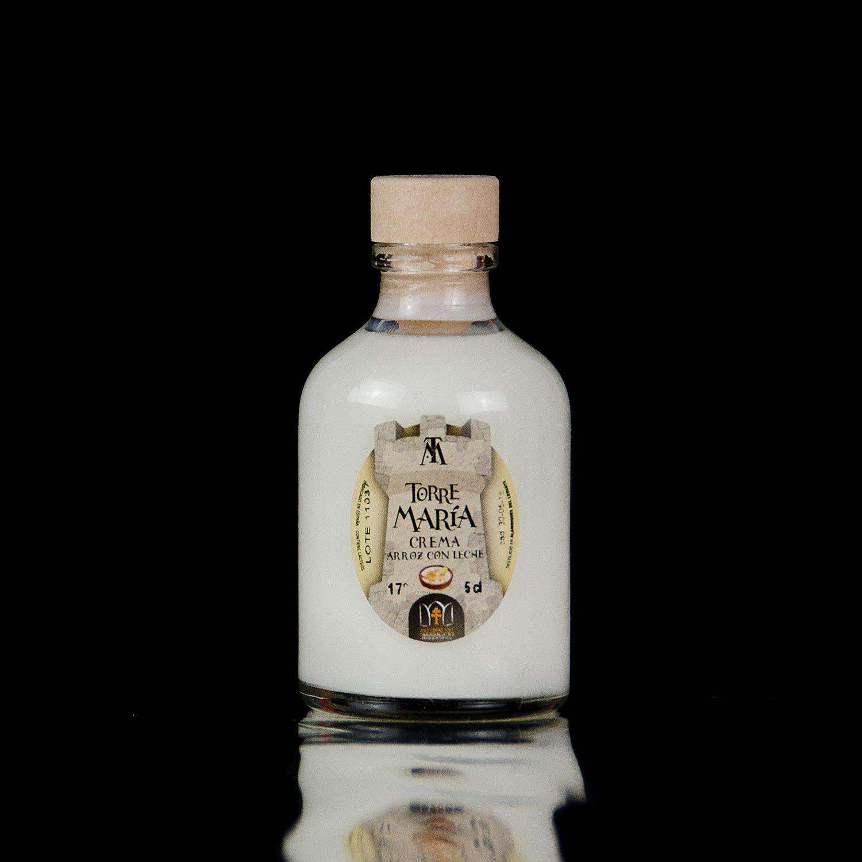 Botellita Miniatura de Licor de Crema de Arroz con Leche Torre María | botella Rocío: Amazon.es: Alimentación y bebidas