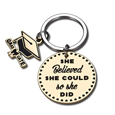Graduation Gift Grad Keychain for Her Class of 2021 Keyring Graduate Gift Him