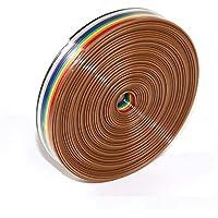 TOCYORIC Tråd regnbåge färg platt band IDC kabel 1,27 mm stigning, 6 m 10 stift regnbåge färg platt band IDC trådkabel
