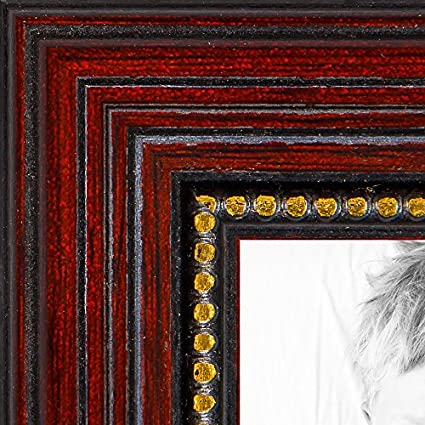 Amazon Arttoframes 8x10 Inch Cherry With Gold Beads Wood