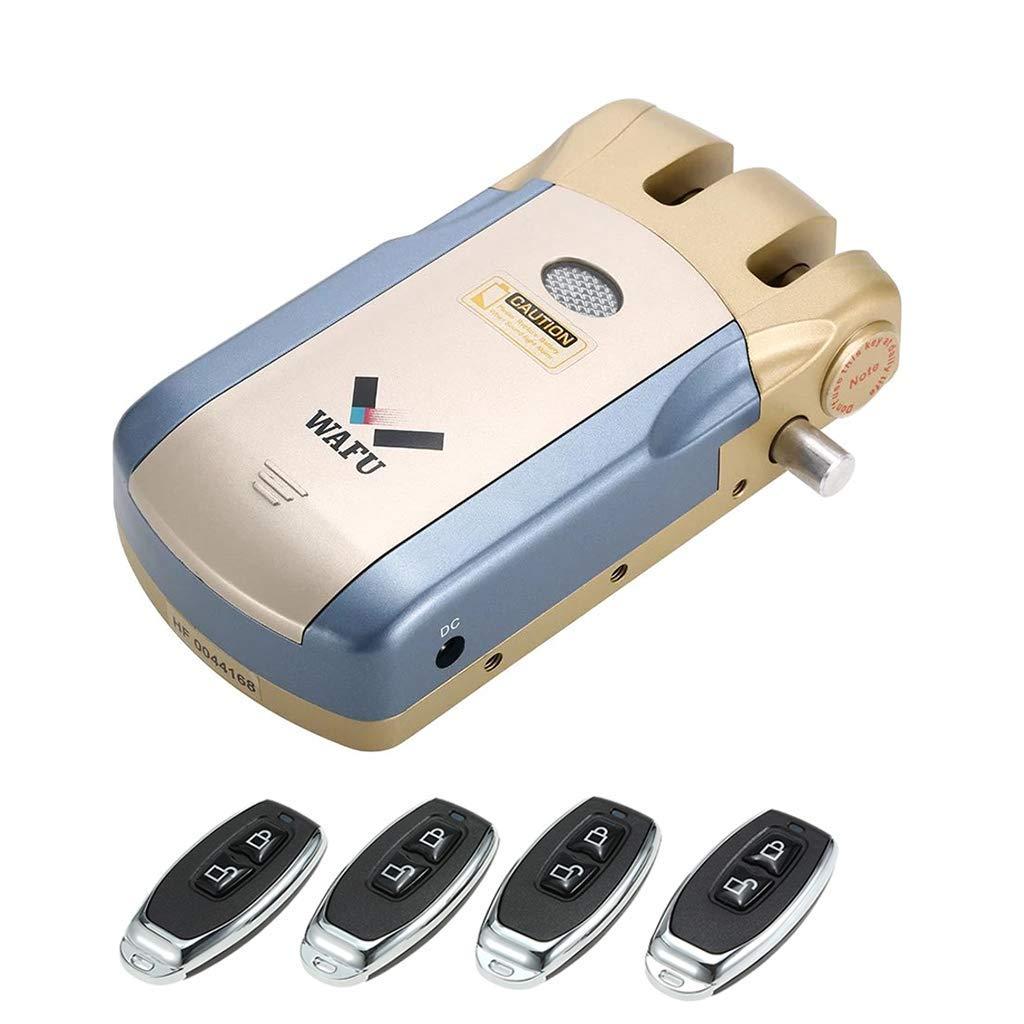 Backbayia plateado Mando a distancia inal/ámbrico con cerradura electr/ónica Smart para puerta sin llave