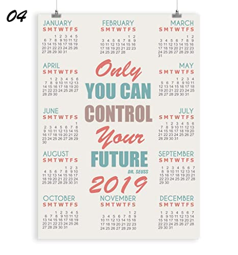 5x7 February 2019 Calendar Amazon.com: Famous Quote Wall Calendar 2019   Yearly Office