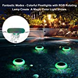 SUNWIND Swimming Pool Lights Floating Solar Underwater RGB Pond Lights Waterproof with Multi Color LED for Pool