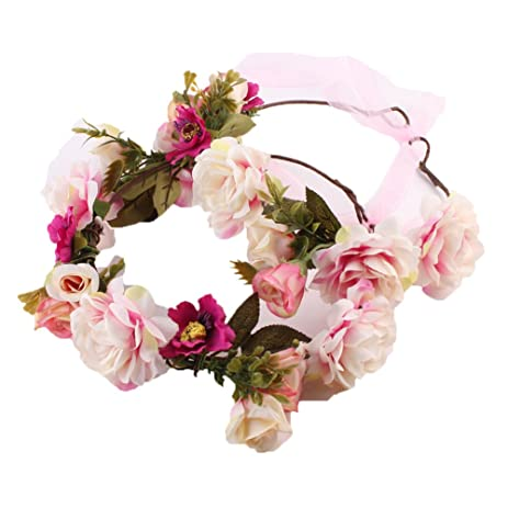 Amazon mom and kids beautiful flower wreath headband crown mom and kids beautiful flower wreath headband crown floral garland boho for festival adults mightylinksfo