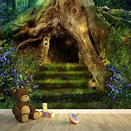 Azutura Magical Tree House Wall Mural Fairytale Forest Photo Wallpaper Girls Home Decor Available In 8