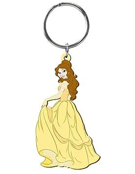 Disney La Bella y la Corte láser llavero de goma Bestia Belle
