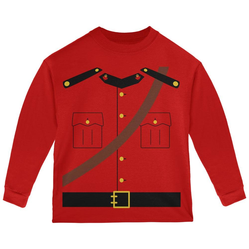 Old Glory Halloween Canadian Mountie Police Costume Toddler Long Sleeve T Shirt 00173974