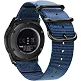 Bands Compatible with Galaxy Watch 46mm / Gear S3, Fintie Soft Woven Nylon 22mm Band Adjustable Replacement Sport Strap…