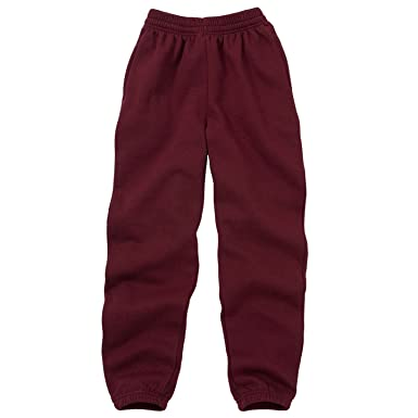 Dalsa Boys Girls Childrens Kids School PE Fleece Jogging Tracksuit Bottoms Trousers