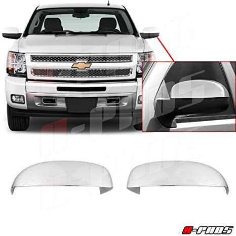 A-PADS 2 Chrome Mirror Covers for Chevrolet Silverado 07-13