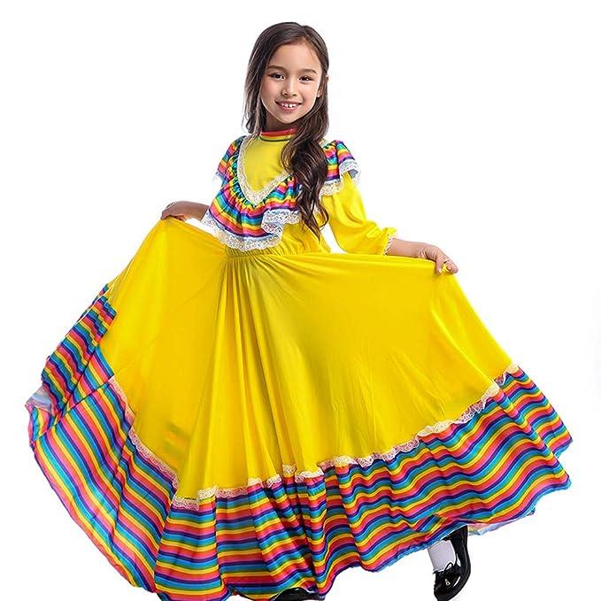 Amazoncom Rs Vestido Mexicano De Moda Para Niñas Vestido