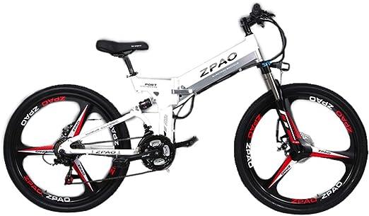 GTYW 26 Pulgadas Bicicleta Plegable Eléctrica Bicicleta De Montaña Adulto Bicicleta Eléctrico Litio Adulto Plegable Mini Motocicleta Eléctrica 90 Km Duración De La Batería,White-180 * 102 * 65cm: Amazon.es: Hogar