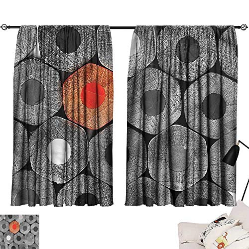 Jinguizi Privacy Assured Window Treatment Darkening Curtains Red and Black,Kids Coloring Crayons,Home Curtain Doorway W63 x L45 -
