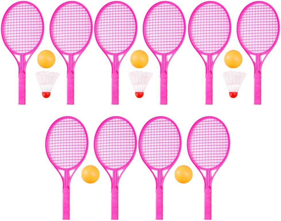 TOYANDONA 5 Set Mini Raqueta de Tenis Bádminton Toy Kindergarten Sport Raqueta de Tenis Raqueta de Bádminton para Niños Estudiantes