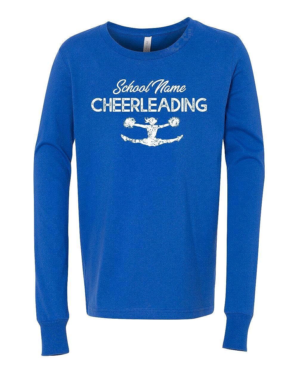 Custom Cheer School Name Girls Boys Long Sleeve