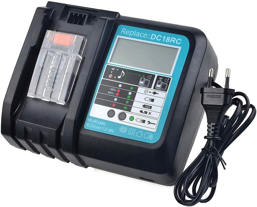 Yintiod DC18RF Chargeur de batterie 18 V 6,5 A pour outils /électriques Makita