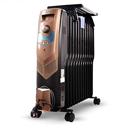 LVZAIXI Calentador de Aceite Ting hogar calefacción eléctrica radiador eléctrico 13 Piezas de Calentador eléctrico Vertical