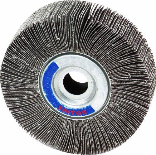 United Abrasives-SAIT 72006 3A Flap Wheel, 6 x 1 x 1, 80X, 5-Pack