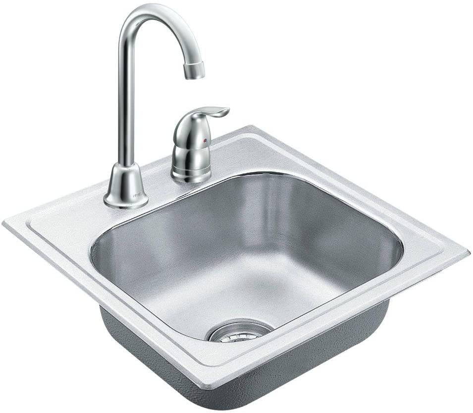 Moen TG2045622 2000 Series 20 Gauge Single Bowl Drop In Sink, Stainless Steel