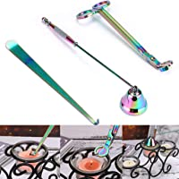 Candle Wick Trimmer Candle Snuffer Candle Wick Dipper Wick Cutter Scissor Stainless Steel Catcher 3 in 1 (Rainbow Color)
