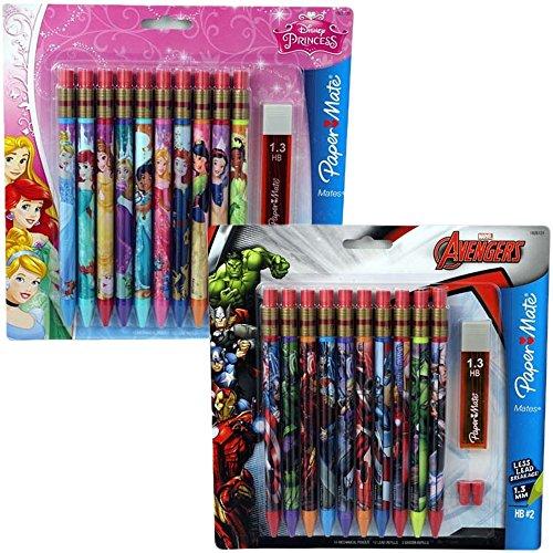 Hot Papermate Marvel Avengers & Disney Princess Mechanical Pencils 10 Ct. (2 Pack) for sale