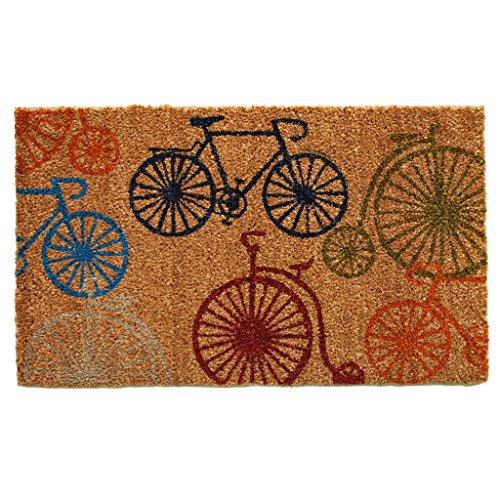 Home & More 121241729 Bicycles Doormat, 17 x 29 x 0.60, Multicolor