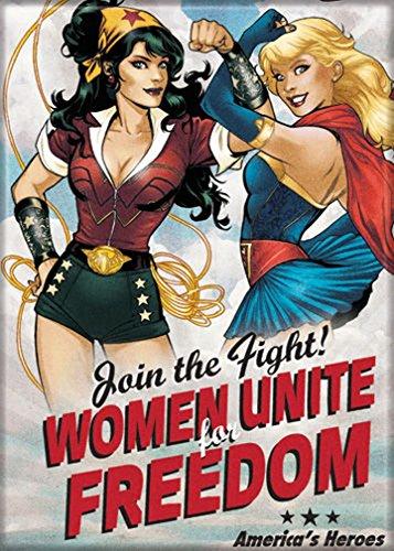 Ata-Boy DC Comics Bombshells Wonder Woman & Supergirl Unite for Freedom 2.5