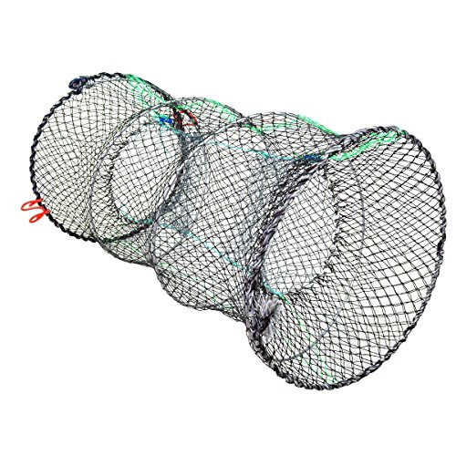 (Jmkcoz 1PC Crab Trap Crawfish Lobster Shrimp Collapsible Cast Net Fishing Nets 11.8