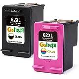 Gohepi Remanufactured HP 62XL 62 Cartucce d'Inchiostro Confezione 2 Nero/Tri-colore per HP Envy 5540 5544 5546 5640 5642 5644 7640 5646 5542, HP OfficeJet 200 5740 5742 5744