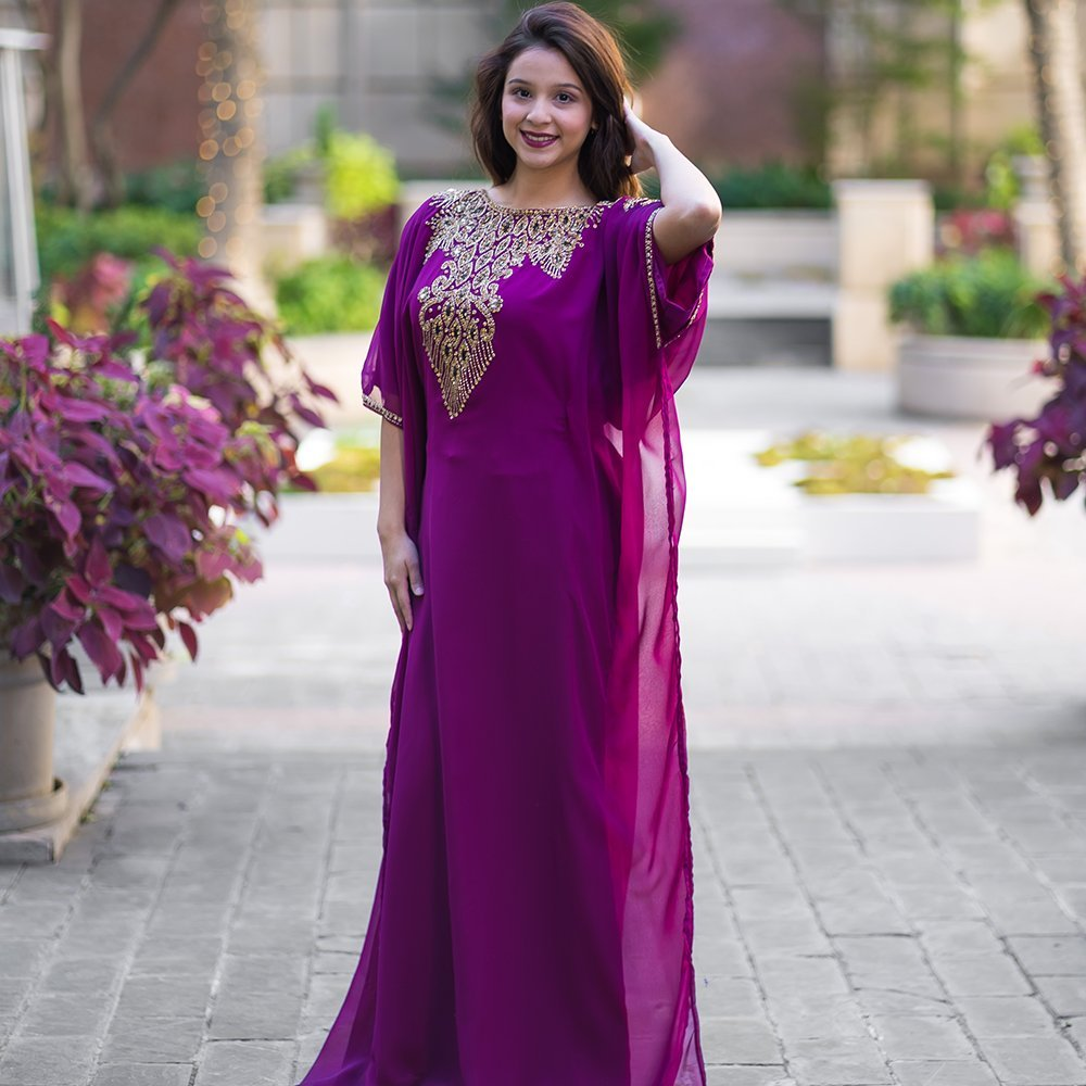 Aceil Kaftan for Women-Long Sleeve Maxi Dress, Gown Formal Lounge ...