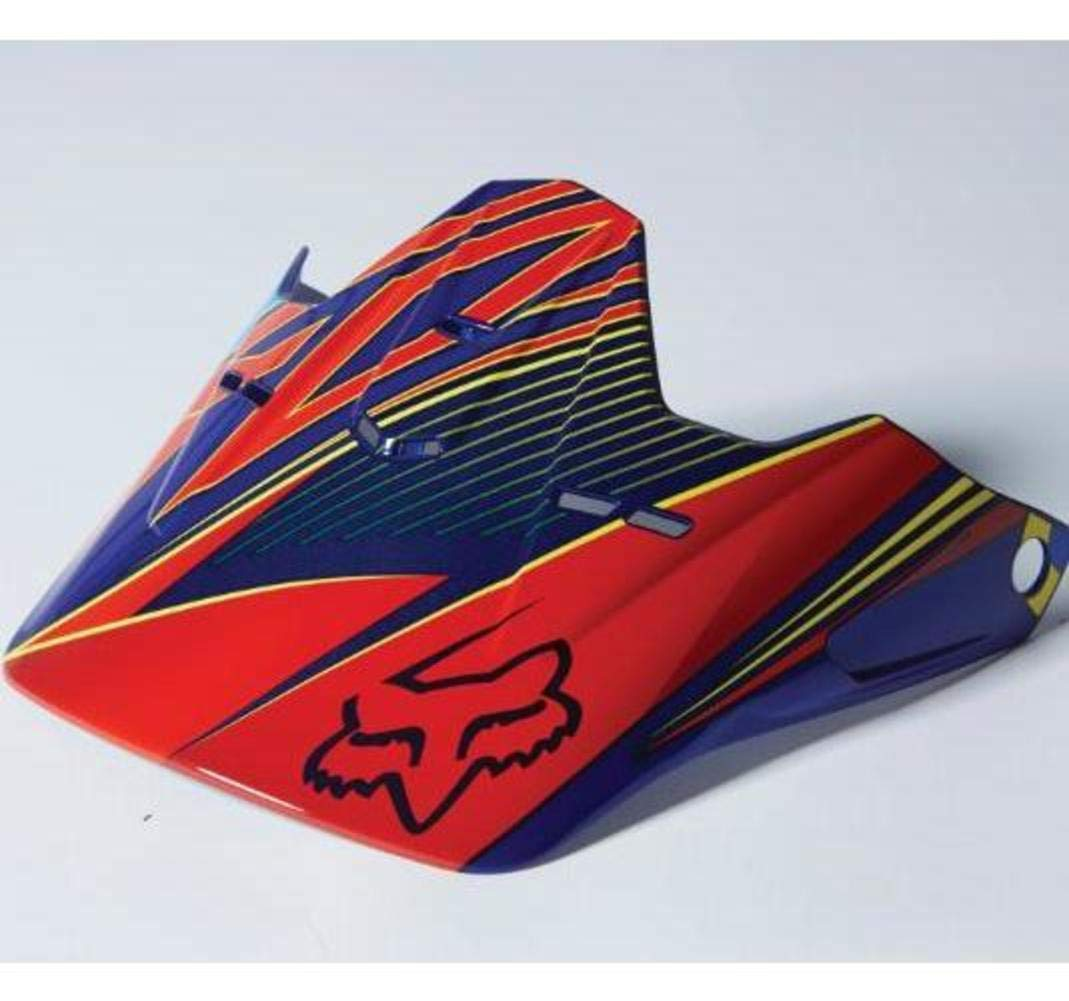 Fox Racing 2014 YTH V1 RADEON HLMT VISOR [BLU] NS BLU No Size 09415-002-NS
