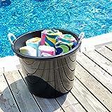 HOMZ Plastic Utlity Rope Handle Tub, 17