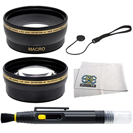 SSE 58mm Wide Angle Telephoto Lens Kit For CANON REBEL EOS DSLR Cameras Including SL1 T6s T6i T5i T4i T3 T3i T2i T1i XT XTi XSi 60D 7D 70D 6D 5D